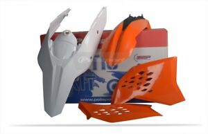 POLISPORT-KIT-PLASTICHE-COMPLETE-ENDURO-ARANCIONE-BIANCO-KTM-400-EXC-2008-2011