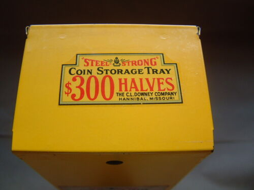 VINTAGE STEEL STRONG HALF DOLLAR ROLL STORAGE BOXES