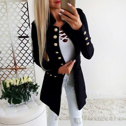 Women OL Long Sleeve Slim Fit Casual Blazer Suit Jacket Coat Outwear BD