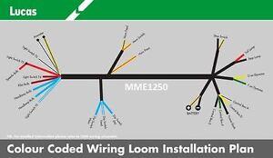 genuine lucas bsa b31 b32 b33 b34 m20 m21 m33 wiring loom cloth rh ebay co uk BSA Positive Ground Wiring Diagram BSA A50 Wiring-Diagram