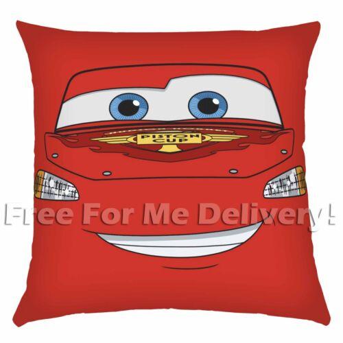 DISNEY LICENSED CARS LIGHTNING MCQUEEN KIDS RED PILLOW CUSHION 45x45cm **FREE DE