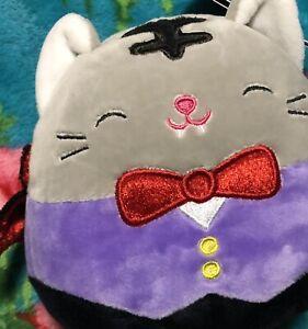 """NWT Squishmallows 5"""" TALLY Vampire Cat Halloween 2021 Kellytoy"""