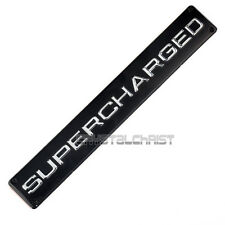Aluminum Auto SUPERCHARGED for Range Rover Sport Emblem Decal Badge Sticker Blk