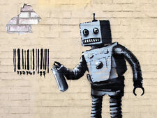 QUALITY BANKSY ART IN NEW YORK PHOTO PRINT (TAGGING ROBOT)