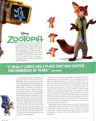 Inside Disney/'s Zootopia Cast Member Exclusive Issue Of Eyes /& Ears