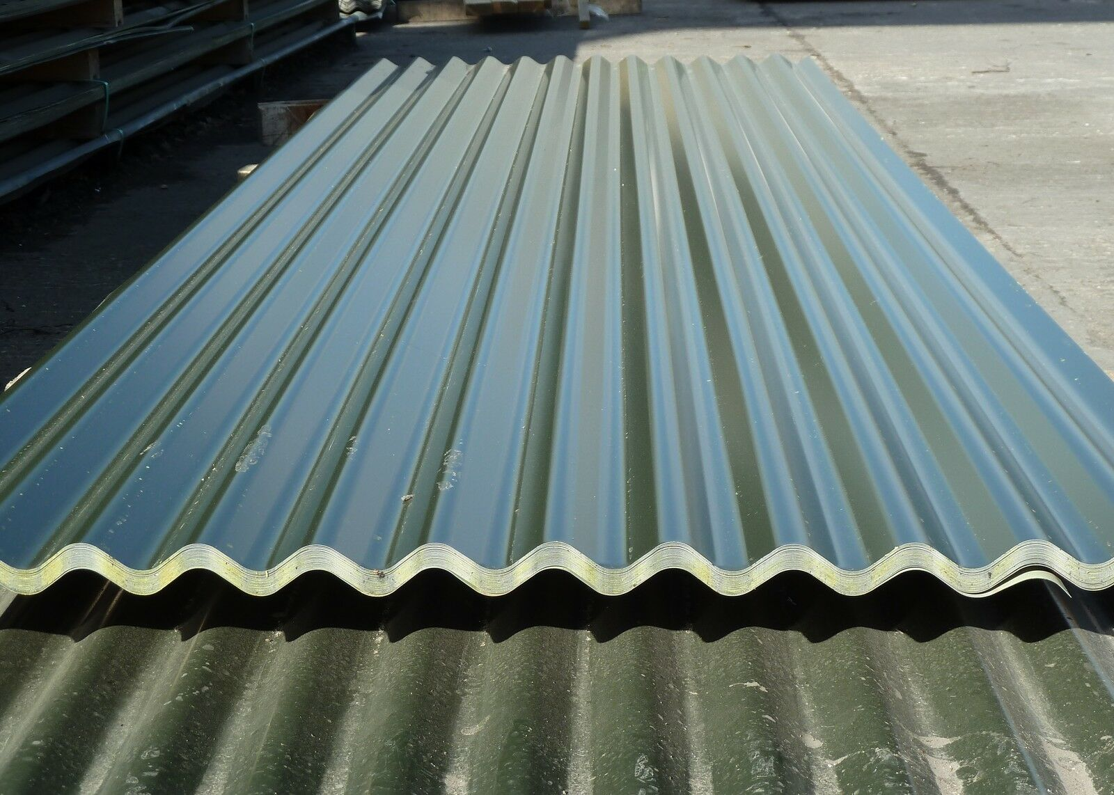 Very Cheap Corrugated Roofing Sheets Juniper Green Metal