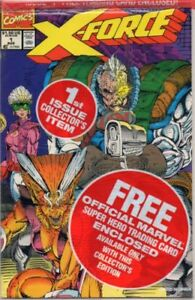 MARVEL-COMICS-X-FORCE-1-1ST-ISSUE-COLLECTOR-039-S-ITEM-SEALED-NEW-BONUS-CARDS-1993
