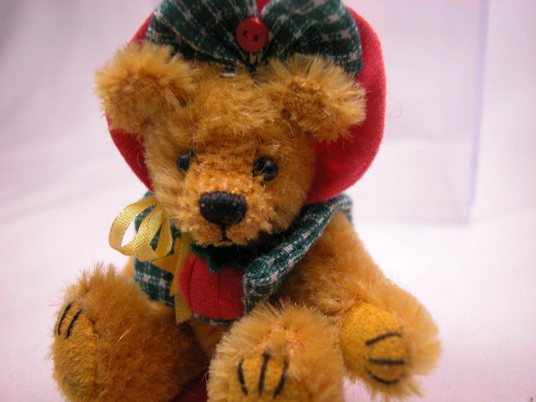 "World of Miniature Bears 3/"" Mohair Cymbal Bear #1203 Collectible Miniature Bear"