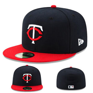 ce2aa53f Details about New Era Minnesota Twins 5950 Black Youth Fitted Hat Official  Kid's Baseball Cap