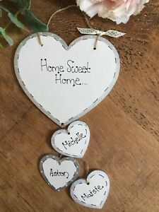 Personalised-First-Home-Sweet-Home-sign-plaque-Heart-gift-new-home-family-Pet