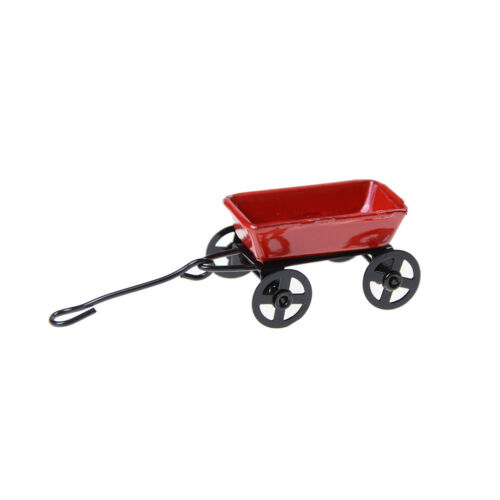1:12 maison de poupée miniature jardin chariot métal meubles semblant jouer  Cx