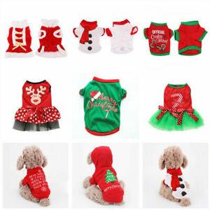 Winter Clothes Pet Dog Cat T-shirt Coat Christmas Santa Puppy Apparels Xmas Hot