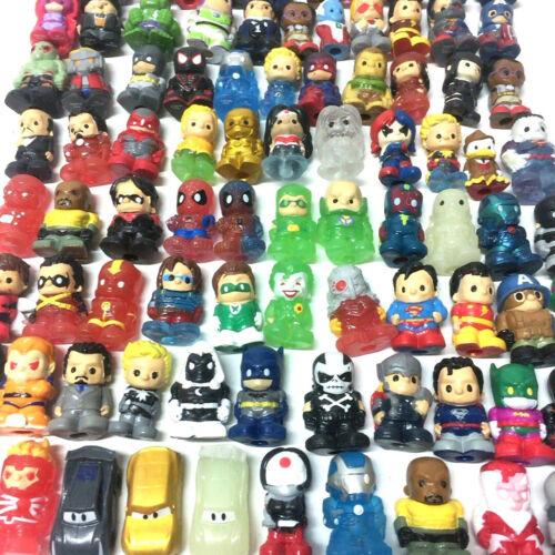 Random 15PCS DC Comics//Marvel//Pixa Car Figure Toys Ooshies Pencil Toppers Lot