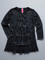 Stella Distressed Black Jersey Girls Dress Size 2t, 3t, 5, 6 $60