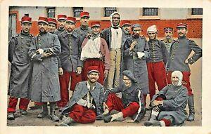 GEFANGENE-FRANZOSEN-FRENCH-PRISONERS-WW1-MILITARY-1917-FELDPOST-POSTCARD