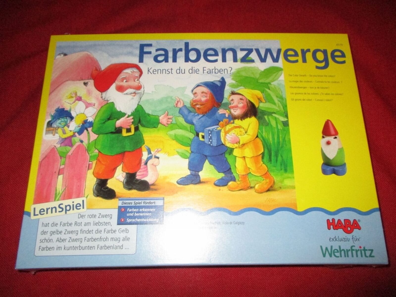 Haba ® 4519 de jeux éducatifs couleurs nains Nouveau neuf dans sa boîte