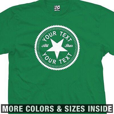 Custom Inverse Old Star All School Shoes Kicks T-Shirt