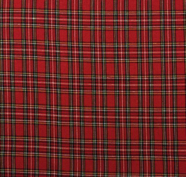 ballard designs holiday christmas plaid red tartan multiuse fabric by yard 56w - Christmas Plaid Fabric