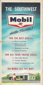 1960-MOBIL-Road-Map-SOUTHWEST-US-Route-66-Texas-Oklahoma-New-Mexico-Arkansas