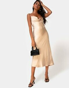 MOTEL-ROCKS-Palasha-Dress-in-Satin-Gold-Medium-M-mr100
