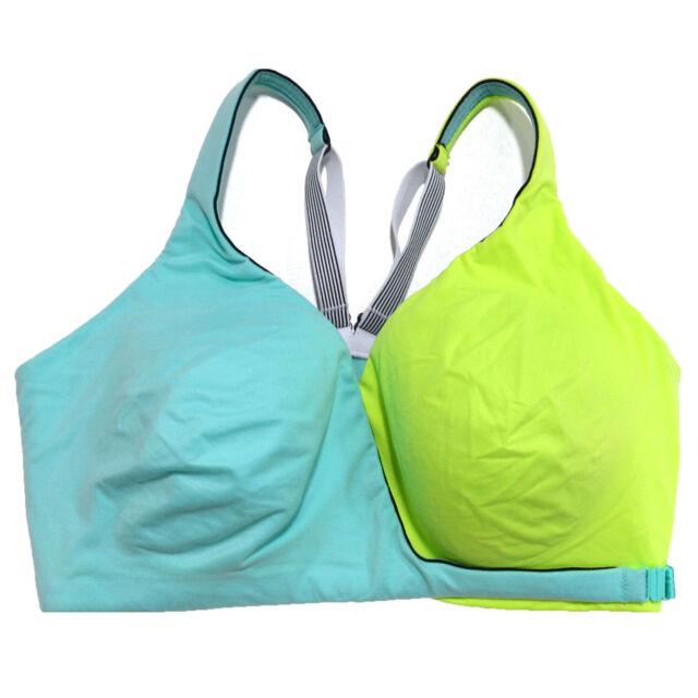 Victoria/'s Secret Knockout Front Close Maximum Support Underwire Fitness Yoga Sport Bra 36D Dark Beige