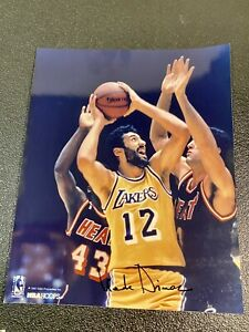1990 NBA Hoops Los Angeles Lakers Vlade Divac Signed Color 8x10