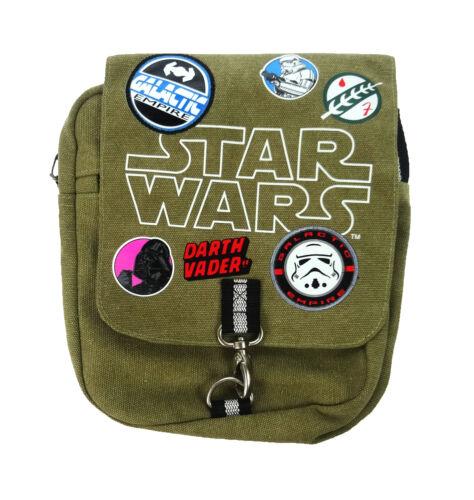 Star Wars Aufnäher Schultertasche Leinen Messenger Kurir Tasche Grün Khaki