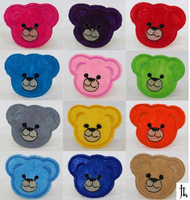 12pcs mixed Cute bear 5*6cm Embroidered Iron On Patch Clothes Appliques Crafts