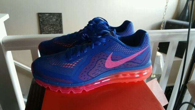 NIKE WOMEN'S AIR MAX 2014 RUNNING SNEAKERS SIZE 11.5 BLUE 621078 400 THESPOT917