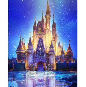 5d full diamond painting diy childrens cartoon disney castle room