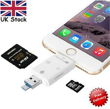 Lightning iFlash USB SDHC Micro SD OTG Lettore Di Schede Per Android iPhone 5 6 6 Plus