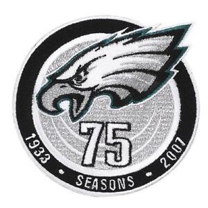 best service 50fd9 d8978 Details about 2007 Philadelphia Eagles 75th Anniversary Season Jersey Patch  NFL Emblem