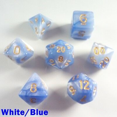 HD Glitter Poly 7 Dice RPG Set Pale Pink Translucent Sparkly Pathfinder 5e D/&D