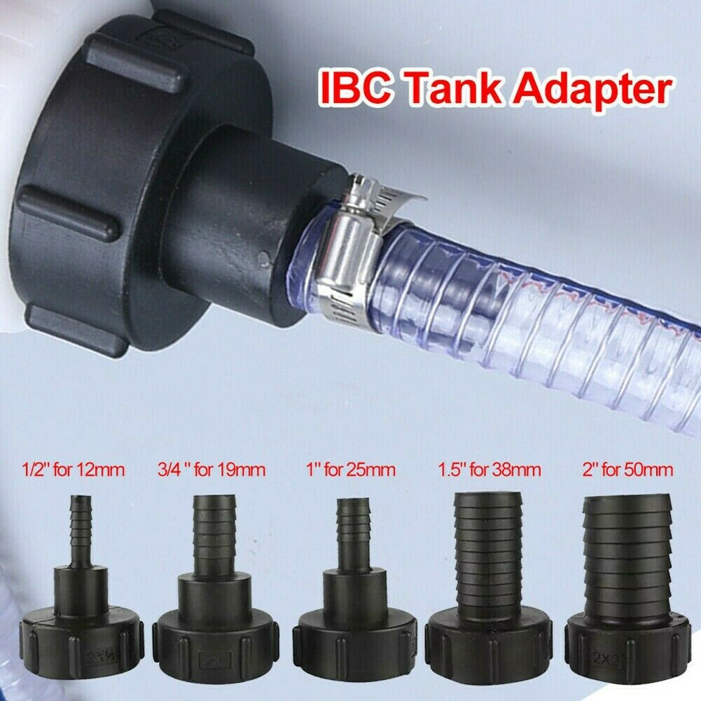 Fitting Tool IBC Tank Adapter Garden Hose Adapter Tap Connector 1/2- 2
