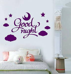 Image Is Loading Vinyl Wall Decal Words Quote Good Night Stars