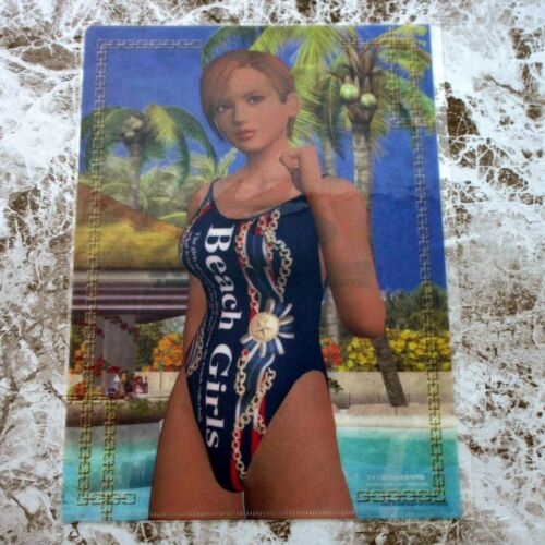 Dead Or Alive Xtreme Beach Volleyball Xbox Famitsu Japan Clear File Lisa NEW