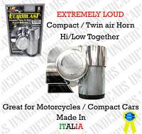 Air Horn Compact Super Loud Blast Dual Tone Kit Universal Horns