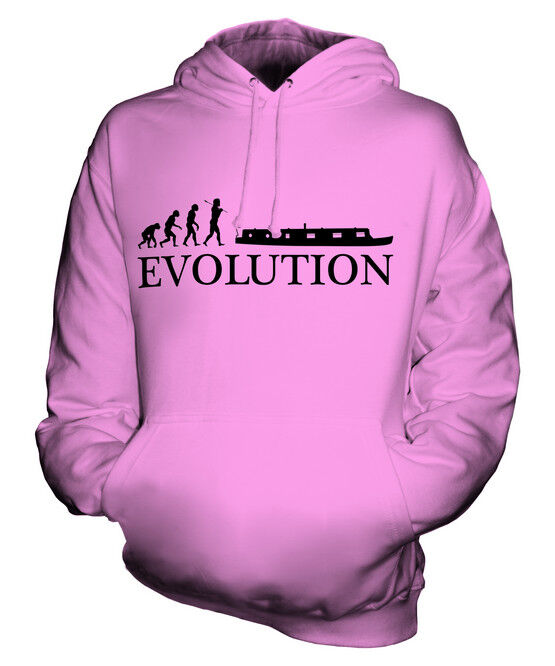 BARGE EVOLUTION OF MAN UNISEX HOODIE TOP GIFT CANAL SHIP