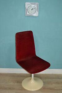 Vintage 70er stuhl design klassiker drehstuhl rot tulip for Drehstuhl designklassiker