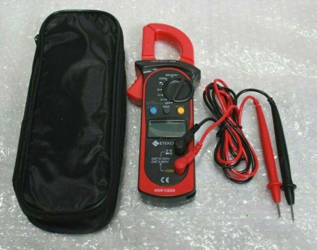 Etekcity MSR-C600 Digital Clamp Meter Auto-Ranging Multimeter @R5