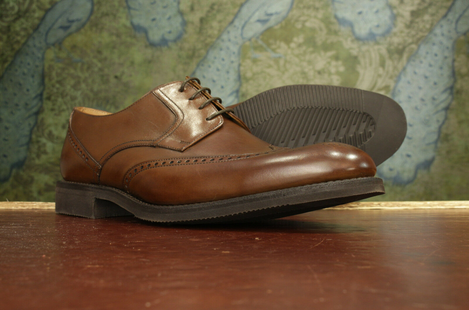 Loake Sirius Brown Lightweight Derby Shoes 11F - New Seconds RRP £160 (16605)