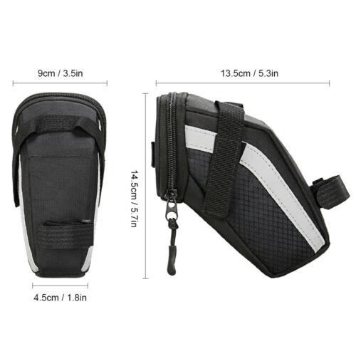 Bike Saddle Bag Cycling Seat Tail Bag Pouch MTB Bicycle Tool Storage Bag
