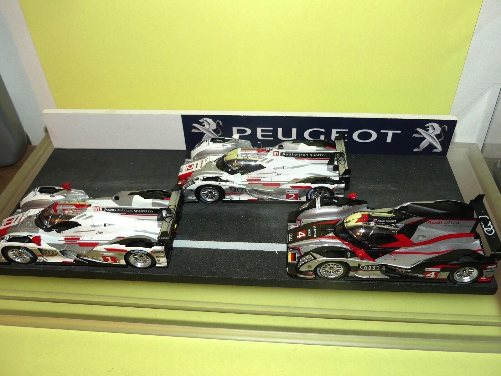 AUDI R18 N°1, N°2 & N°4 triplé LE MANS 2012 SPARK 1 43
