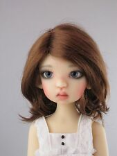Monique CICI Wig Reddish Brown Size 8-9 SD Dollfie BJD shown on Mei Mei by Wiggs