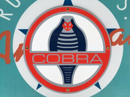 top quality COBRA ford MOTOR company PORCELAIN coated 18 GAUGE steel SIGN