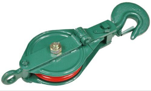 4t Umlenkrolle Umlenkrollen aufklappbar grün Snatch Block Capacity 4ton J