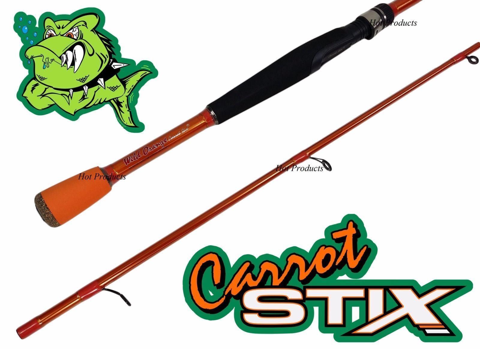 COLLAPSIBLE Carrot Stix SPINNING 7 'MEDIUM Wild Orange Fishing Rod C2WX702M -MF -S