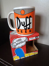 The Simpsons Duff Beer Ceramic Mug 11oz mug cup NEW and BOXED
