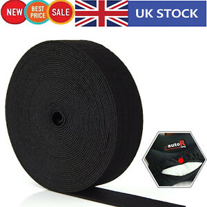 Elastic-Flat-Cord-25mm-Black-Waistband-for-Dressmaking-Sewing-Accessories-Straps