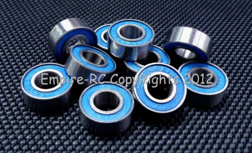 6x15x5 mm 696-2RS 696RS 100 PCS ABEC-3 Rubber Ball Bearing Bearings Blue